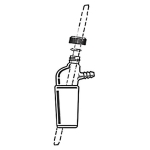 AD-0153: Thermometer Adapter, 10 Degree Offset, Screw Cap, Hose Connection