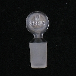 Hollow Glass Pennyhead Stoppers Inner joint size 14/20.