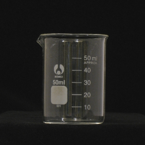 50ml Glass Beaker Low Form Graduated Laboratory