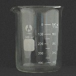 Beaker, Borosilicate, LowForm Capacity 600ml. Graduation range 100-500. OD 90mm. Height 125mm. Graduation 50ml. (BOMEX Brand)