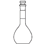 Volumetric flask Capacity 1000mL. Accuracy limits 0.4.