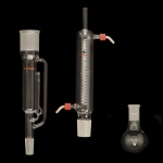 Soxhlet Extraction Apparatus, RBF Round bottom flask, capacity 250mL, 24/40 joint.