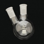 2 Neck Round Bottom Flasks, Angled, Heavy Wall Capacity 250ml. Joints size: Center 24/40; Side 24/40.