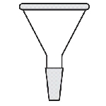 Powder funnel Diameter 75mm. Inner joint size 24/40.