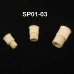 Septum Stopper, Serrations, Natural Color Adapter size: for 19/22-19/38 joints. Pack of 10.
