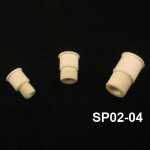 Septum Stopper, Serrations, Natural Color Adapter size: for 24/25-24/40 joints. Pack of 10.