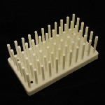 Test Tube / Drying Rack, Polypropylene Pegs/holes: 66/50. Color: white.